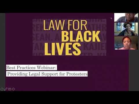 [L4BL Emergency Webinar] Best Practices on Providing Legal Support for Protesters