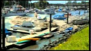 Tsunami Wrecks Marina in Santa Cruz California