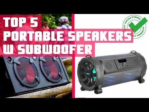 Portable Speaker With Subwoofer | Top 5 Best Portable Speakers With Bass Review