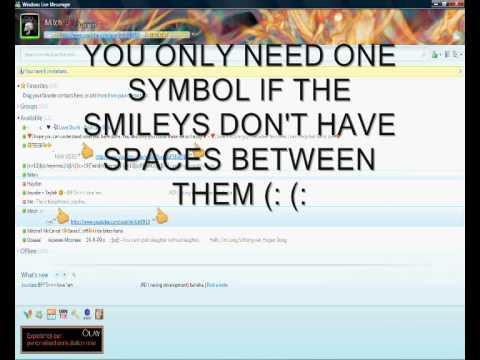 How To Make Huge Smileys In Your MSN Name - MSN Secret Trick