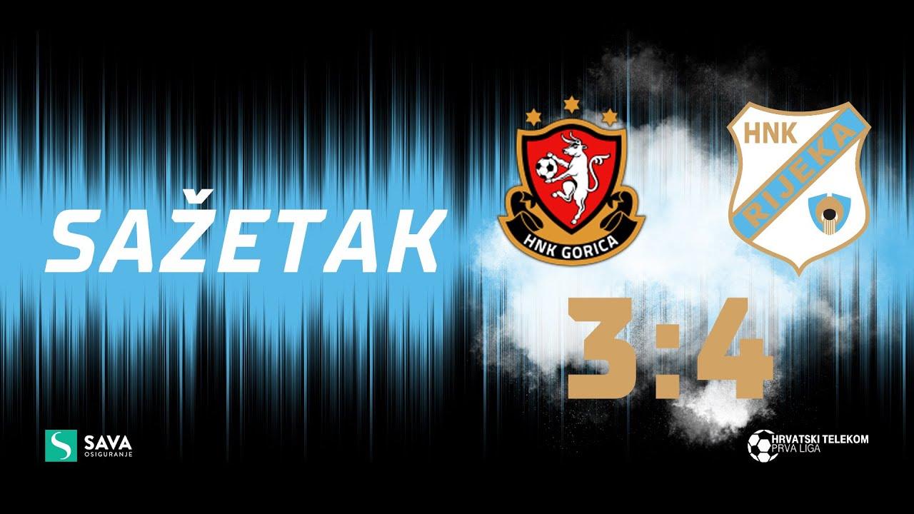 Gorica - Rijeka 3:4 - sažetak 10. kolo (2021./2022.)