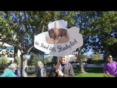 Defund DAPL Rally and March, February  11, 2017, Palo Alto,