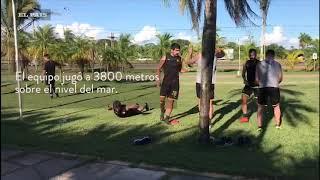 Entrenamiento de Peñarol en Santa Cruz de la Sierra, Bolivia