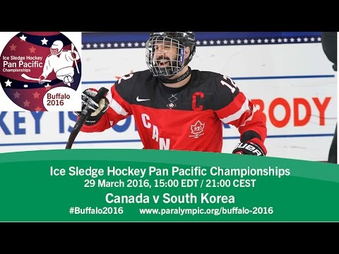 Canada v South Korea | Prelim | 2016 Ice Sledge Hockey Pan Pacific Championships, Buffalo