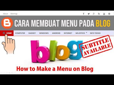 Cara Membuat Menu pada Blog di Blogger