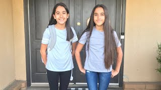 Morning routine for our first day of school (sixth grade)