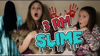 DO NOT MAKE SLIME AT 3AM! It is TERRIFYING!  Featuring Emily  JorjaBriteny Ep95
