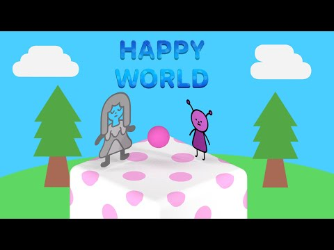 Walkthrough Happy World | TRUE ENDING , NEVER LEAVE ME and EXCLAND [No commentary]