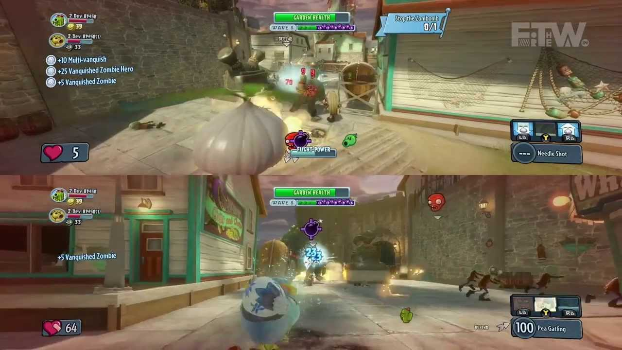 Plants Vs Zombies Garden Warfare Split Screen Gameplay Und Boss Mode Auf Xbox One Youtube