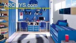 Decoracion de habitaciones para niños varones