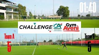 Les jeunes pros de l'OGC Nice se défient au challenge Gym Aveni