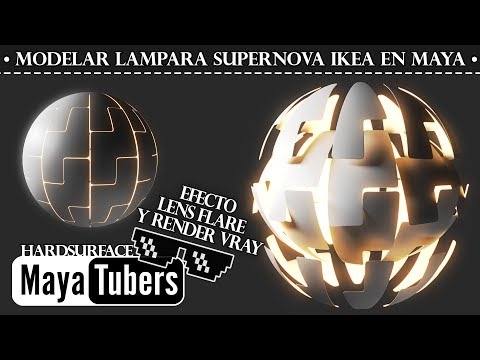 Modelar Lampara IKEA PS Super Nova y Renderizar Glow Effect