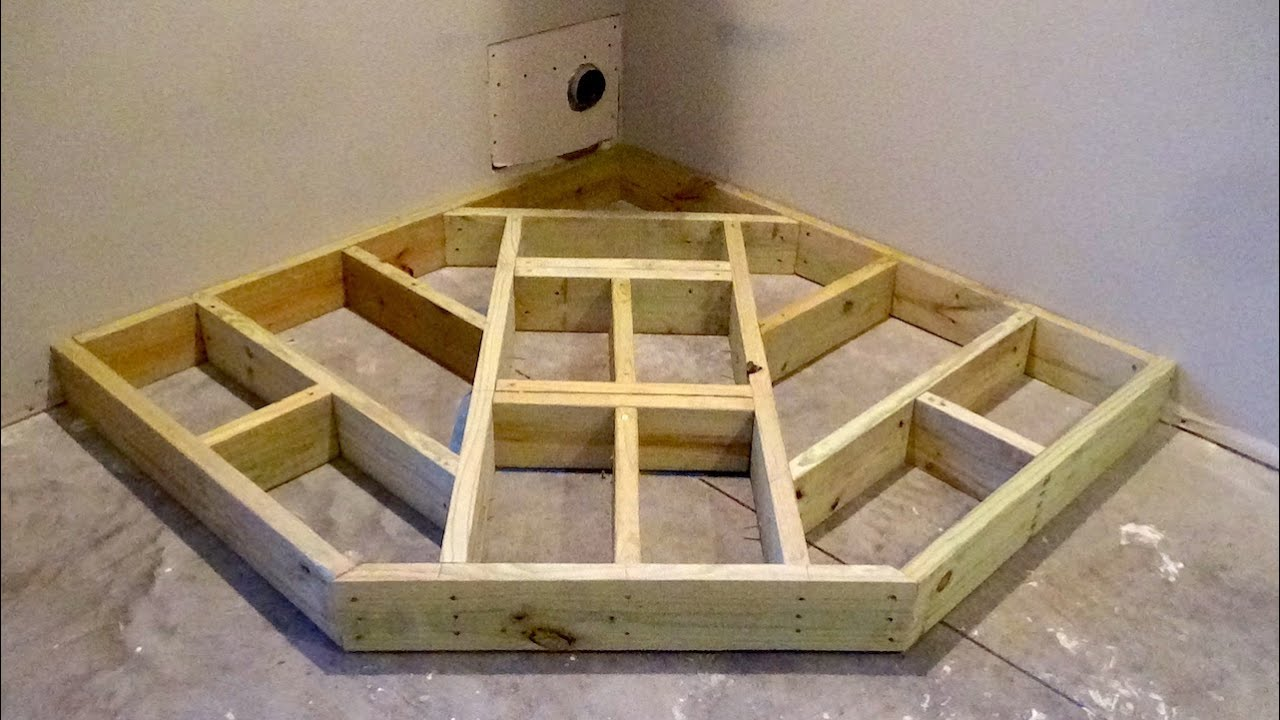 How To Build A Wood Stove Hearth Framing A Hearth Youtube