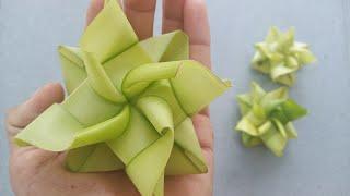 Cách làm hoa sen bằng lá dừa đơn giản đẹp (c5) #TOITNT