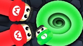 Slither.io Mario Vs Luigi Best Smallest Snake Killer In Slitherio (Slitherio Funny / Best Moments)