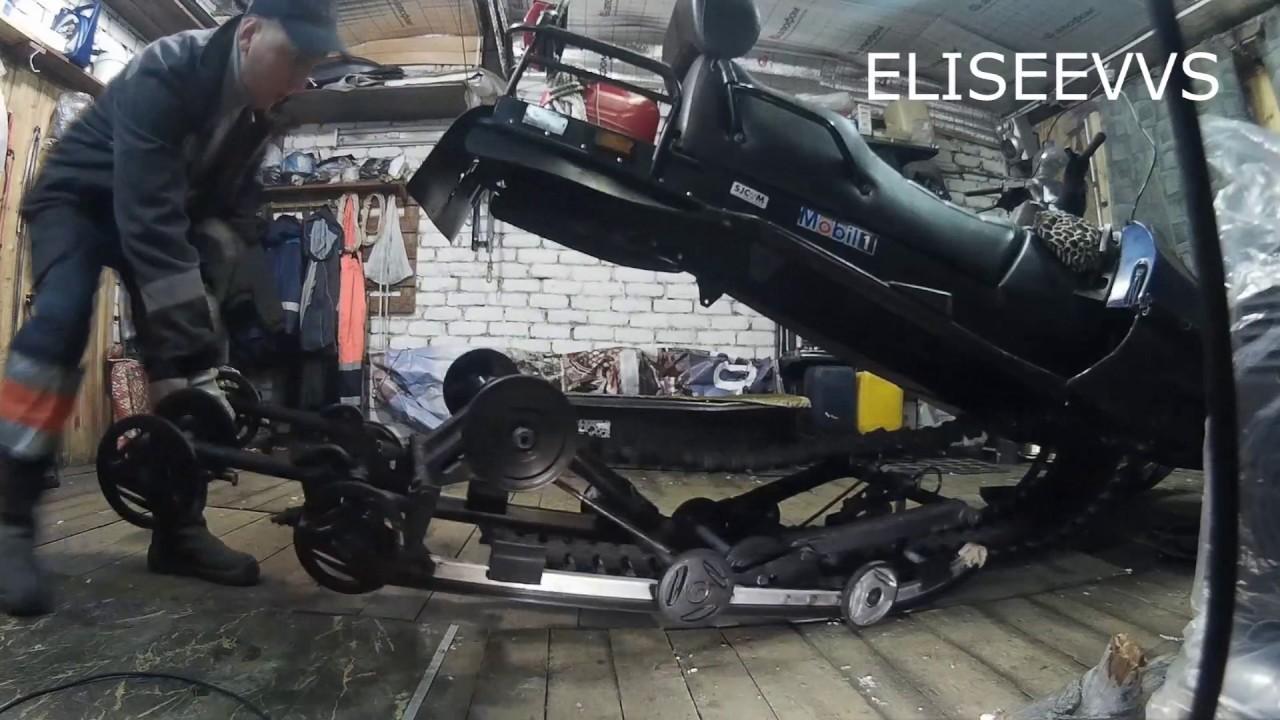 Замена передней пружины в подвеске снегохода SKIDOO SKANDIC WT