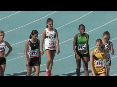 2016 Vic Junior Champs. Women U16, U15 & U14 100m.