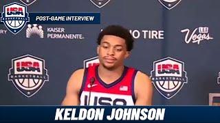 Keldon Johnson on his BREAKOUT Game vs Spain   Post-Game Interview USA VS Spain