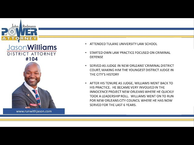 John Redmann: Power of Attorney- Interview with Jason Williams.