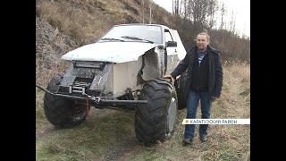 Отец и сын из Каратузского района своими руками собрали вездеход из металлолома