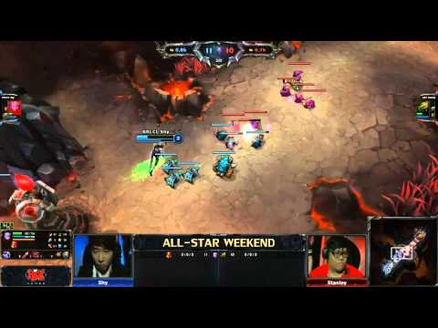 2013 ALL-STAR LoL 1v1 Solo Top - Stanley vs shy - Day 1