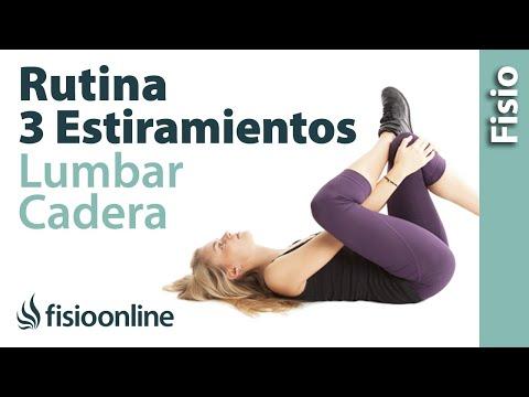 Triple secuencia de estiramiento para la cadera y zona lumbar.