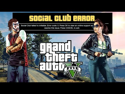 GTA 5 - How to Fix Social Club Initialization Failed (Error Code 0) Solved!