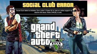 GTA 5 - How to Fix Social Club Initialization Failed (Error Code 0) Solved!