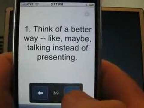Six Pointers for a Google Docs Presentation on iPhone thumbnail