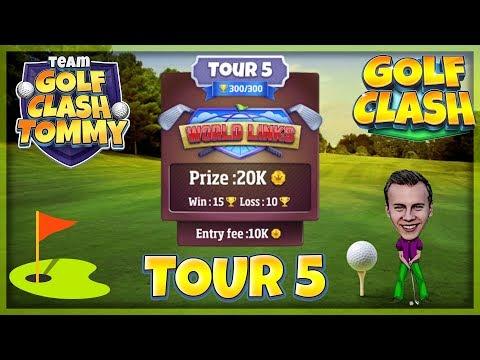 Golf Clash tips, Hole 2 - Par 4, Greenoch Point - World Links, Tour 5 - GUIDE/TUTORIAL