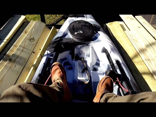 Motorized fishing kayak - shadow caster
