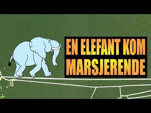 En elefant kom marsjerende - med animasjon