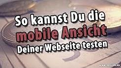 So geht's: mobile Ansicht der Webseite testen