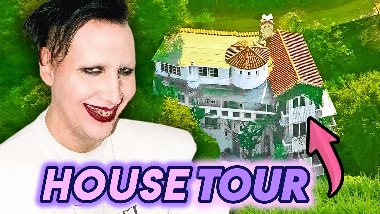 Marilyn Manson | House Tour 2020 | Hollywood Hills Mansion & His 'Dark Lair'