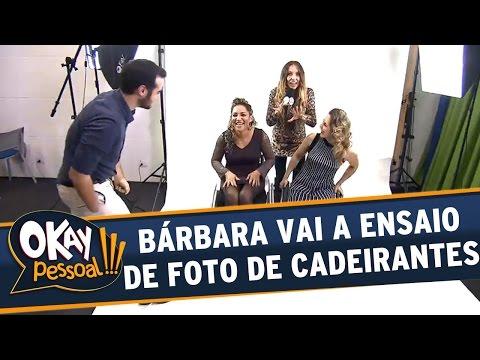 Okay Pessoal!!! (08/06/16) - Bárbara Koboldt vai a ensaio fotográfico para cadeirantes