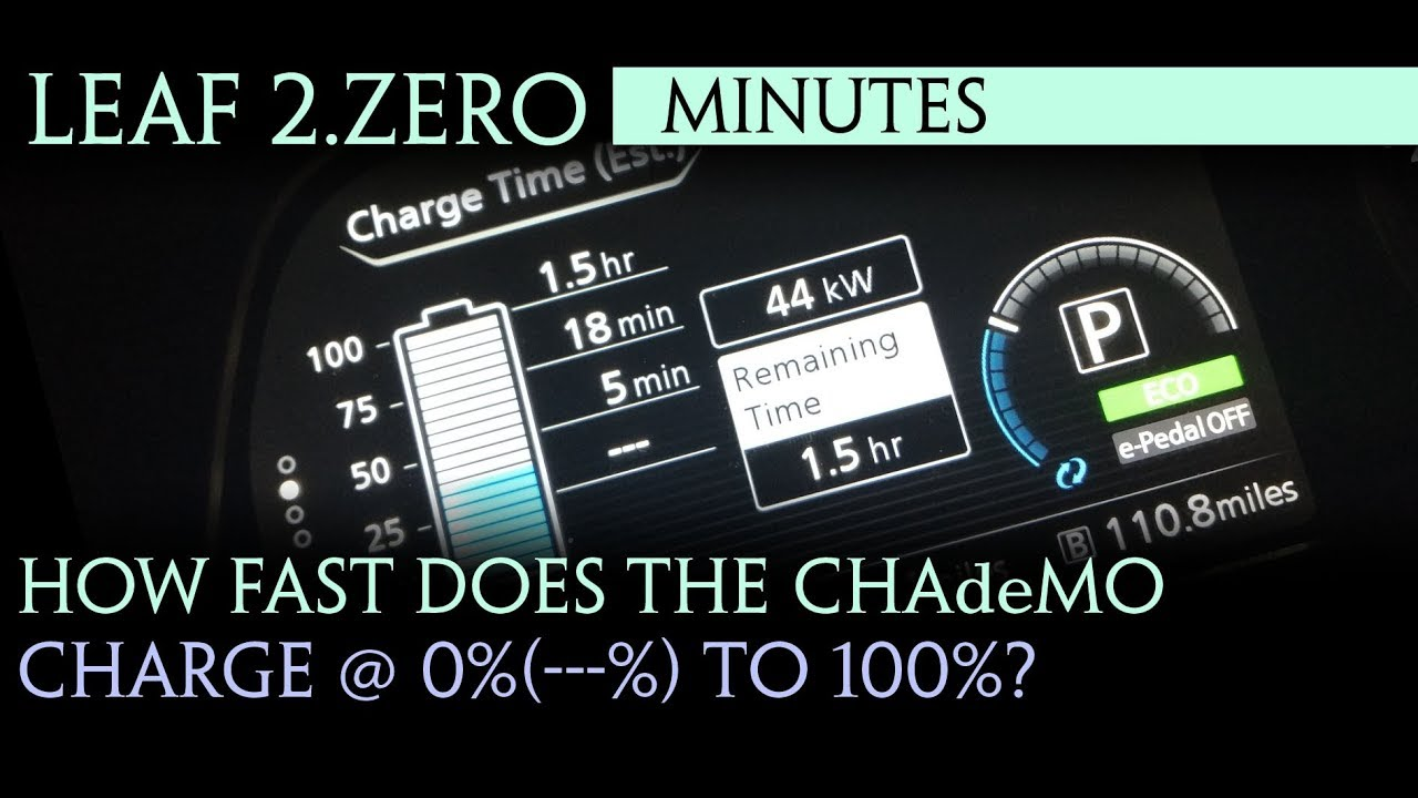 Nissan Leaf 2018 How Fast Does The Chademo Charge From 0 To 100