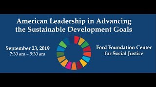 American Leadership on the Sustainable Development Goals