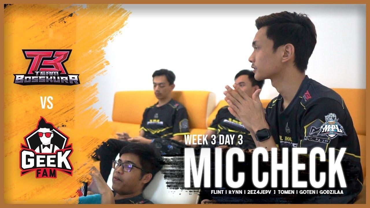 Download FANNY XORN BUKAN BIASA BIASA !! | MIC CHECK BOSSKUR VS GEEK FAM ROUND 2 | MPL WEEK 3 DAY 3
