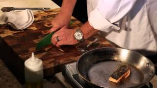 How To Saute Grilled Salmon With Dill Capers, Lemon, Oil & Garlic : Great Dinner Recipes