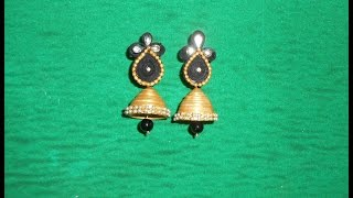 DIY: Pretty Quilling Jhumkas/Earrings Making Tutorial