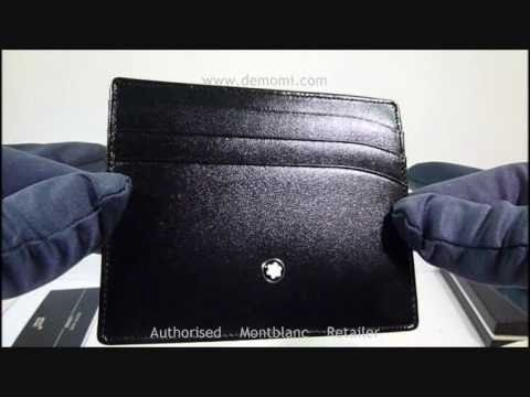 nuovo arrivo 2bdf9 7455a MB 35803 montblanc credit card holder mont blanc porta carte credito  meisterstuck review