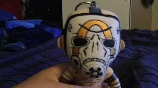 Psycho mask keychain plush review