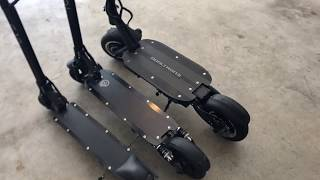 Dualtron 3 electric scooter - comparing size to EcoReco L5 and EcoReco S3