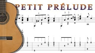 TUTO FINGERSTYLE EASY ARPEGGIO GUITAR - PETIT PRELUDE - TAB + SCORE