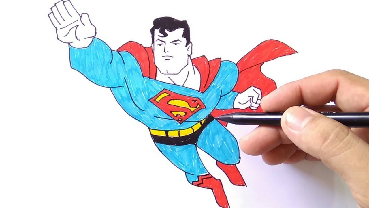How To Draw Superman Cara Menggambar Superman