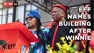 After launching its local government election manifesto, the Economic Freedom Fighters unveiled its new office building in Johannesburg. Named after the late Winnie Madikizela Mandela, her family was present to tour the new building alongside EFF leader Julius Malema.  #EFFManifesto2021 #WinnieMadikizelaMandela
