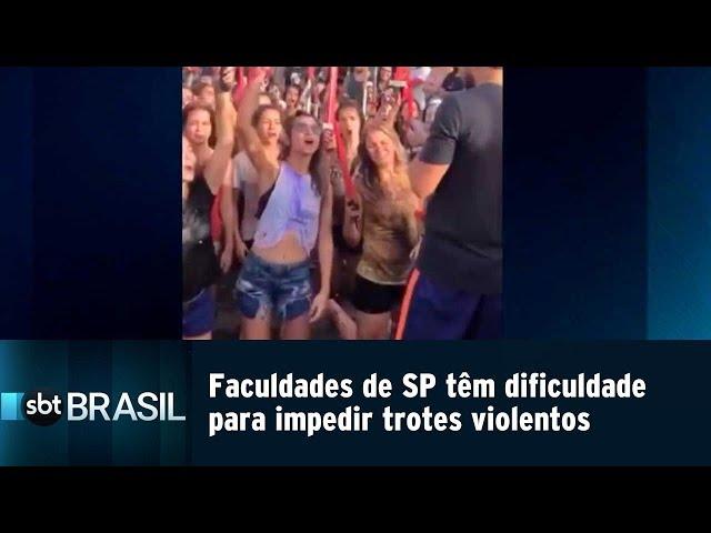 Faculdades de SP têm dificuldade para impedir trotes violentos | SBT Brasil (22/02/19)