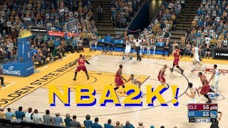 NBA2K simulation: Cleveland Cavaliers at Golden State Warriors, Game 1, 2017 NBA Finals