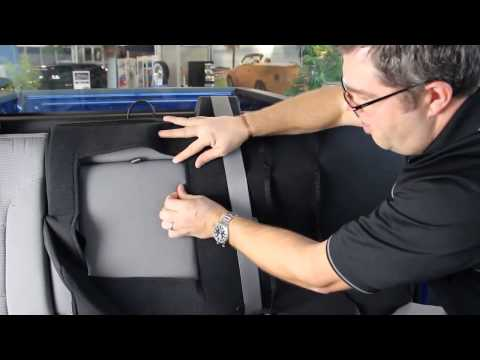 How to install seat covers to a rear bench seat