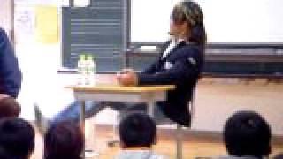 小学校で講演(棚橋 弘至)595 2010年2月 学校の先生の知り合い...